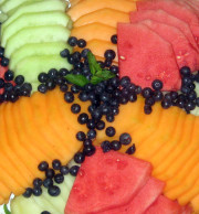Sliced Local Melons and Berries