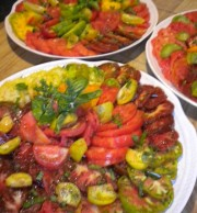 Heirloom Tomatoes are at their peak in the heat of summer.