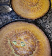 This cornbread is studded with Fried Okra and Jalapenos.