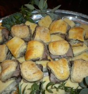Homebaked Wheat Rolls filled with Beef Tenderloin
