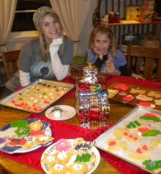 It is a Holiday tradition here to make cookies, as you see with Paige and Bella, and easy to do.